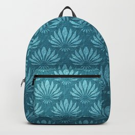Art Nouveau,Teal,metallic,art deco, fan pattern,chic,vintage,victorian,belle epoque,trendy,modern,elegant Backpack