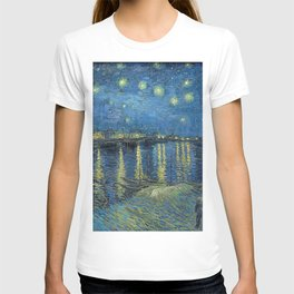 STARRY NIGHT OVER RHONE - VAN GOGH T-shirt