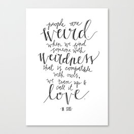 Call It Love | Dr. Seuss Print Canvas Print