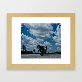 sit-down circle wheelie Framed Art Print