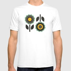 Evergreen Aster SMALL White Mens Fitted Tee