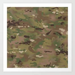 Military Woodland Camouflage Pattern Art Print
