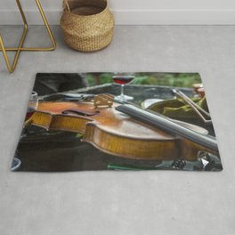 Violin with wine Rug
