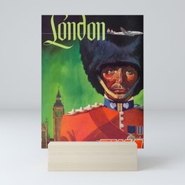 London -  Vintage Air Travel Travel Poster Mini Art Print