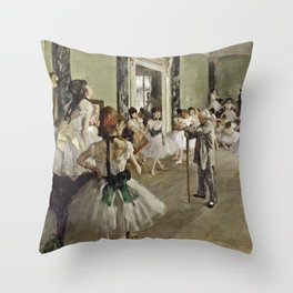 Edgar Degas - The Ballet Class Throw Pillow