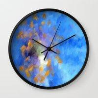 magic the gathering Wall Clocks featuring Gathering by Paul Kimble