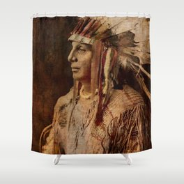 'Cree Warrior', Native American Indian Shower Curtain