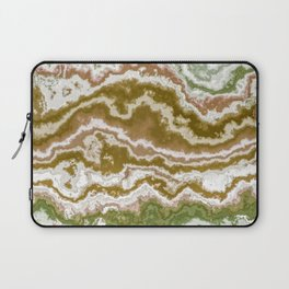 Green and toasted sienna marbling texture Laptop Sleeve