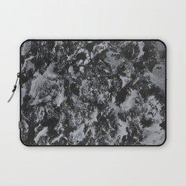 White Ink on Black Background #4 Laptop Sleeve