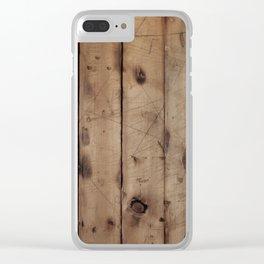 Burnt WoodGrain Clear iPhone Case