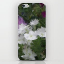 Purple And White Verbena iPhone Skin