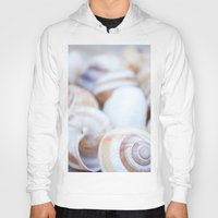 shells Hoodies featuring Shells by Daisy Thijssen