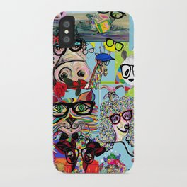 Hip Animals with Glasses . . . The Cool Kids! iPhone Case