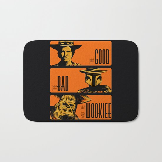 The Good, the bad and the wookiee Bath Mat