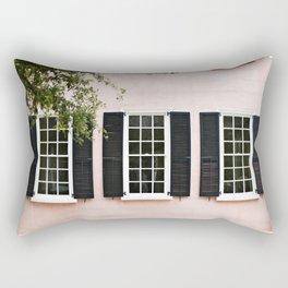 Pink Windows Rectangular Pillow