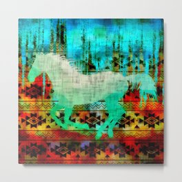 A southwest winter horse Metal Print