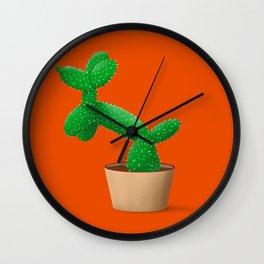 Cactus dog Wall Clock