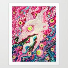 Glitterwolf Acrylic Painting Art Print