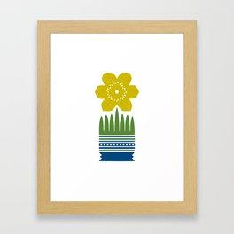 Nordic Yellow Flower Framed Art Print