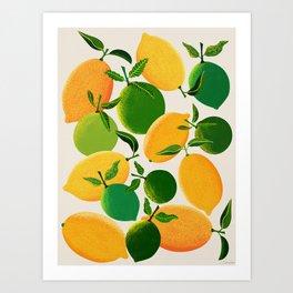 Lemons and Limes Art Print