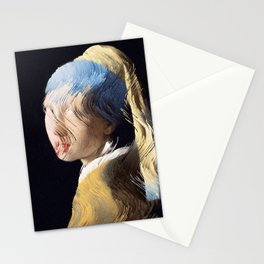 Girl With a Sorted Earring Stationery Cards