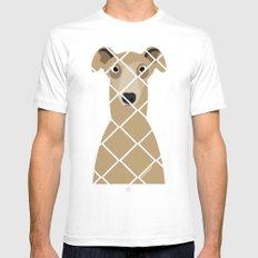 Greyhound (Galgo Ingles) White Mens Fitted Tee MEDIUM