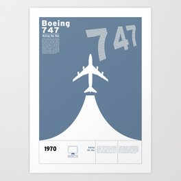 Boeing 747 Art Print