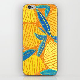 Striped Lemons - Whimsical Fruit Design iPhone Skin