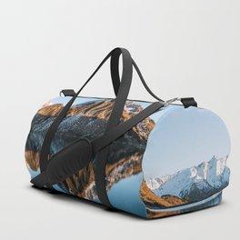 Calm Mountain Lake at Sunset - Landscape Photography Duffle Bag
