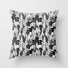 Winter forest pattern Throw Pillow