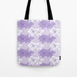 Purple Hellebores Tote Bag