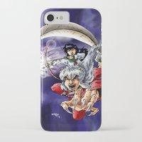 inuyasha iPhone & iPod Cases featuring Inuyasha & Kagome by MarioRojas