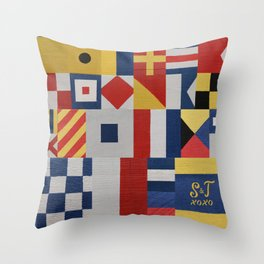 S & T Love Flags Throw Pillow