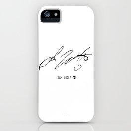 Sam Woolf - Signature iPhone Case