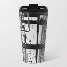 Steel workers New York City Travel Mug