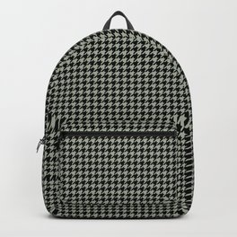 Desert Sage Grey Green and Black Houndstooth Check Backpack