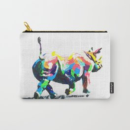 Rainbow Rhino Carry-All Pouch