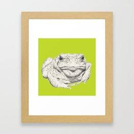 Toad Face Framed Art Print