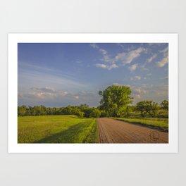 Country Road, North Dakota 11 Art Print
