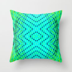 FLUX #3  Optical Illusion Vibrant Colorful Psychedelic Trippy Design Throw Pillow