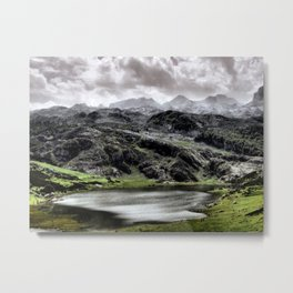 Lake Ercina in Asturias, Spain Metal Print