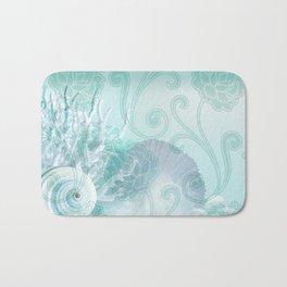 SEASHELL DREAMS | blue Bath Mat