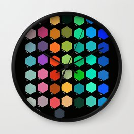 Darth Color Chart Wall Clock