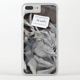 Be Well: Sacred Smoke Clear iPhone Case