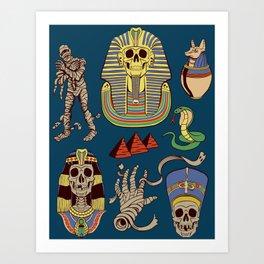 Mummy Death Pattern Art Print