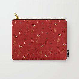 Quidditch Pattern - Gryffindor Carry-All Pouch