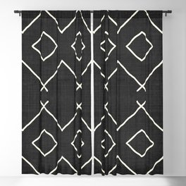 Bath in Black and White Blackout Curtain