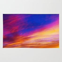 rainbow clouds Rug