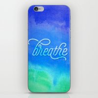 breathe iPhone & iPod Skins featuring Breathe by Noonday Design