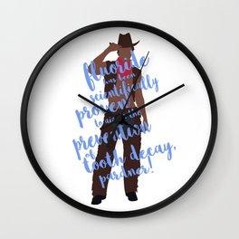 dental cowboy Wall Clock